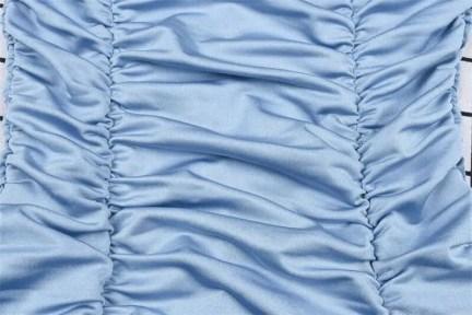 Satin long sleeve mini dress