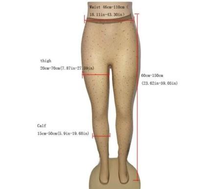 Rhinestone Mesh Fishnet Pantyhose And Thigh Highs