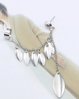 Silver Petals Dangling Drop Earring