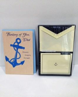 Southworth Brand Nautical Style Embossed Folded Note Cards & Envelopes -Vellum