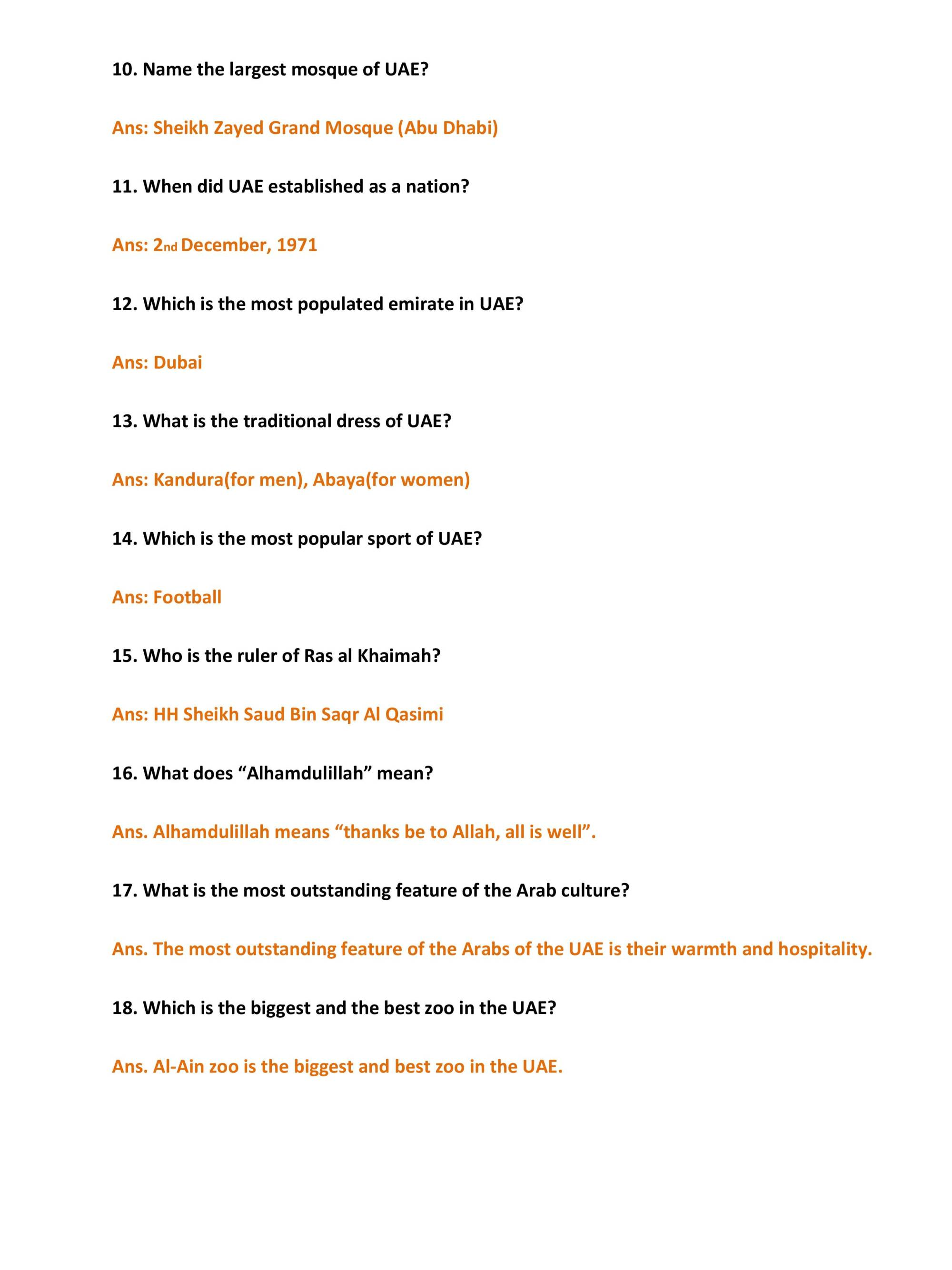 hight resolution of All About Uae Worksheet   Printable Worksheets and Activities for Teachers