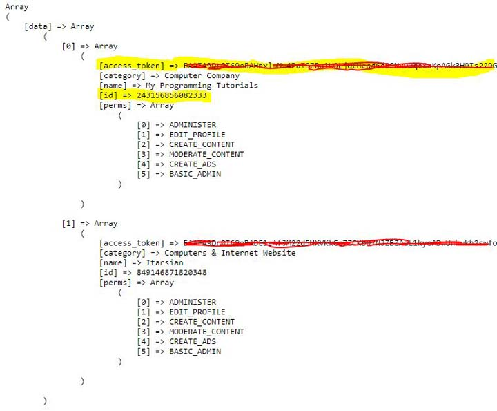 post into facebook page using php sdk v5