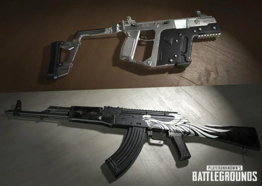 nouvelles caisses de skin armes pubg