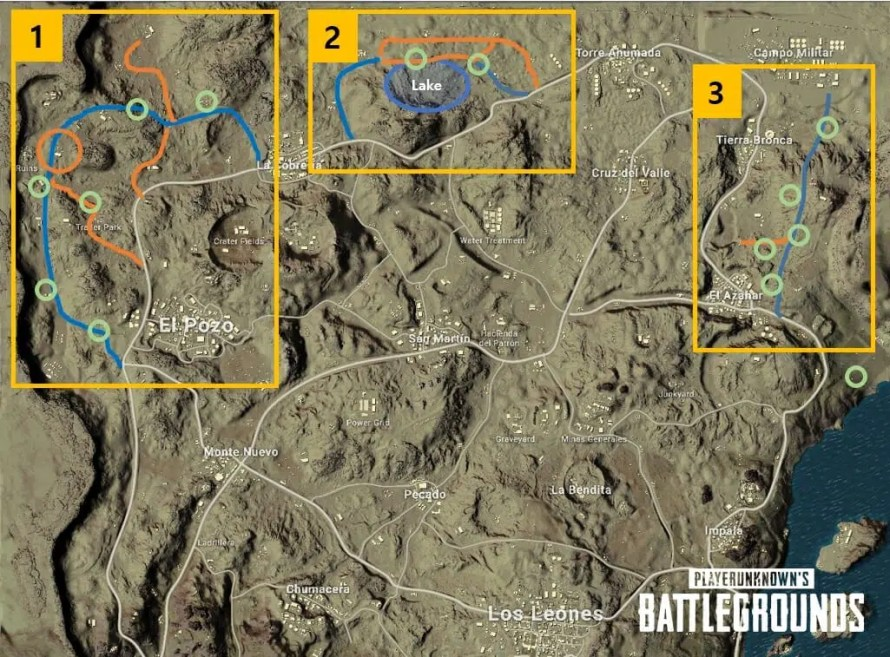 modification de la map miramar la carte dans le desert de pubg