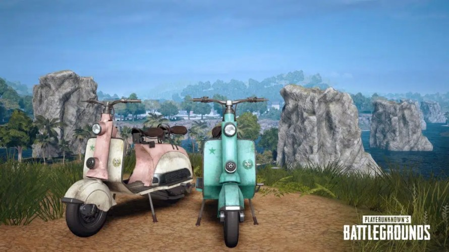 Nouveau véhicule sur PUBG , le scooter