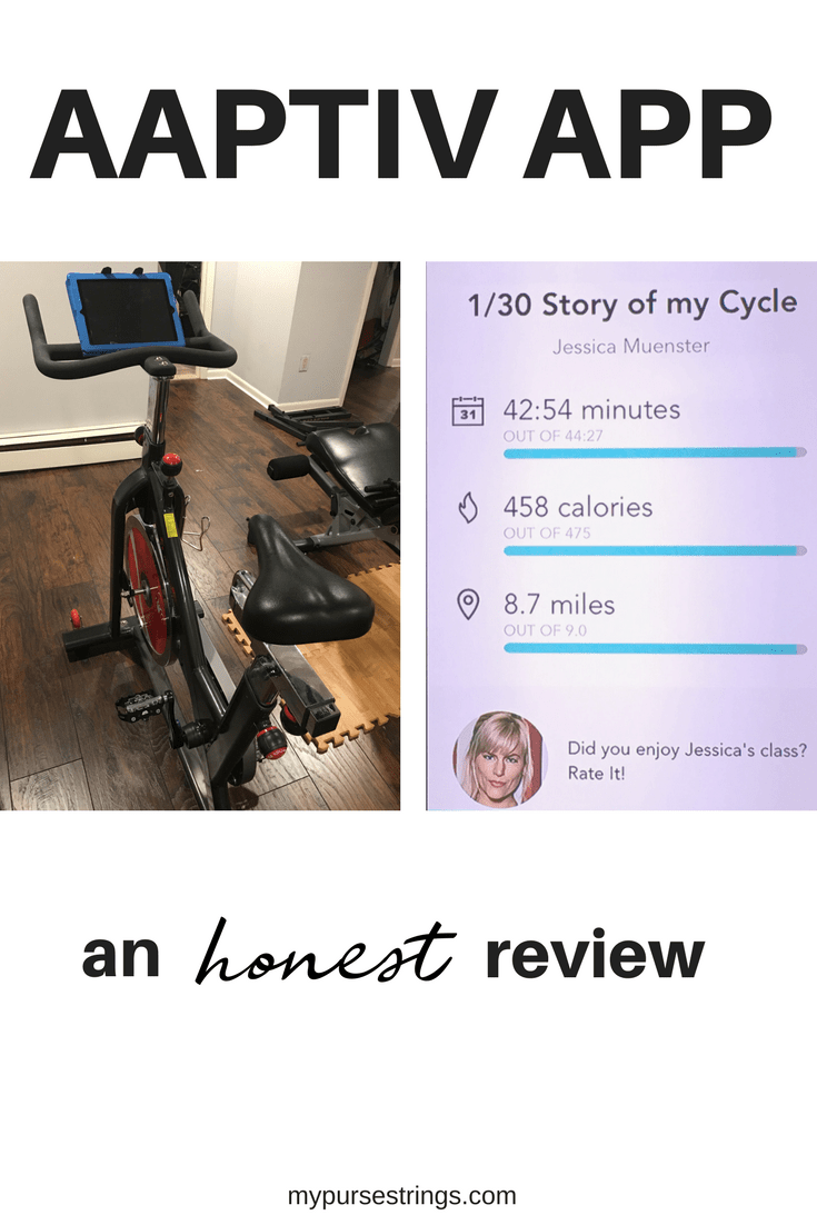 Looking for a home workout at home on a spin bike? Find out how the Aaptiv app compares to the Peloton app. #homegym #fitness