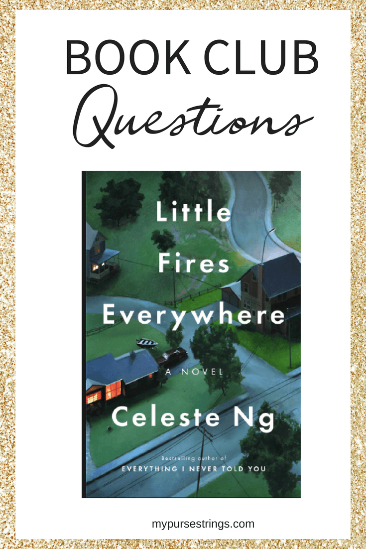 Looking for book club discussions for the bestselling novel Little Fires Everywhere by Celeste Ng? Join our online virtual book club. #bookclub