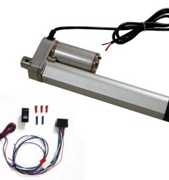 6 inch linear actuator kit 12 v w 225 lbs max load includes wiring switch kit [ 1000 x 800 Pixel ]