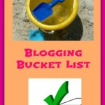 Blogging Bucket List