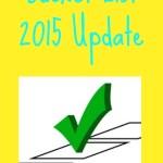 Bucket List 2015 Update