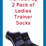 #Giveaway 2 Pack of Ladies Trainer Socks