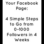 How to Grow Your Facebook Page: 4 Simple Steps to Go from 0-1000 Followers in 4 Weeks