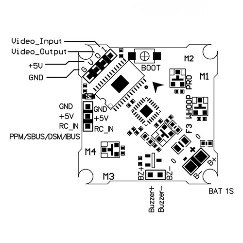 RCX08-336 : F3 WHOOP PRO F3 AIO Brushed Flight Controller