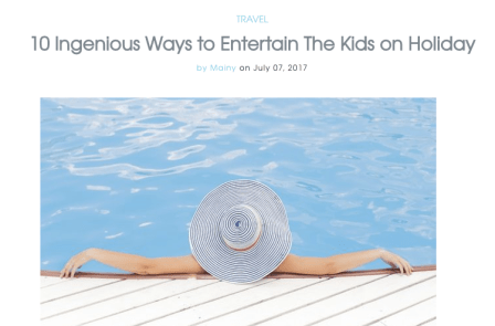 10 ingenious ways of keeping the kids entertained