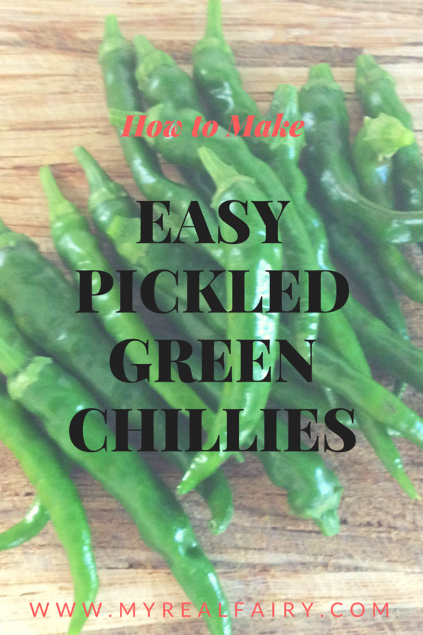Easy Pickled Green Chillies