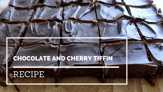 Chocolate and cherry tiffin guest post