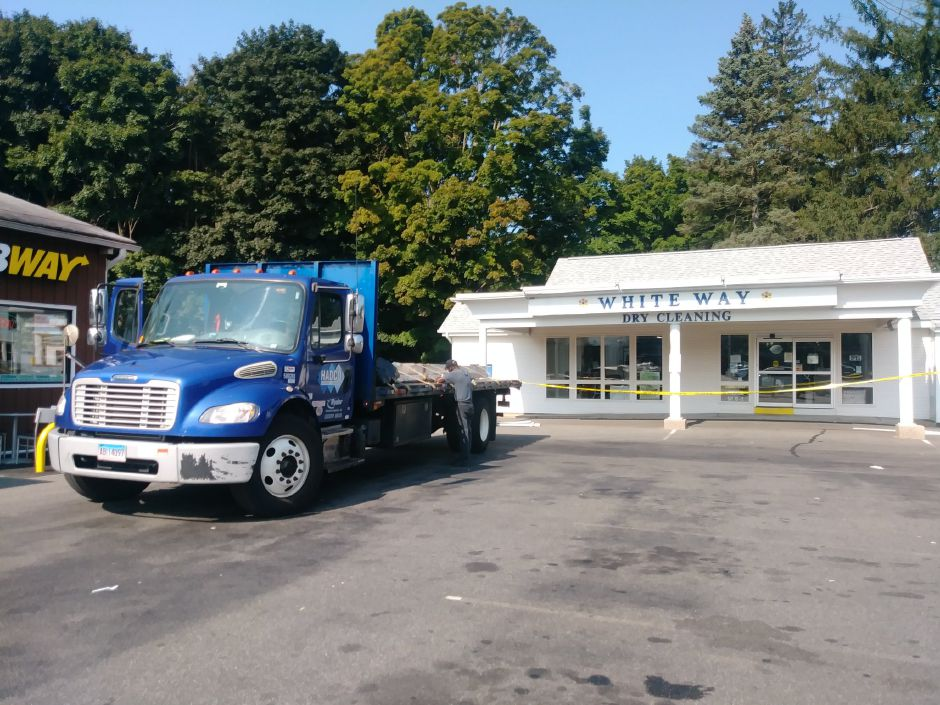 truck backs into dry cleaning business