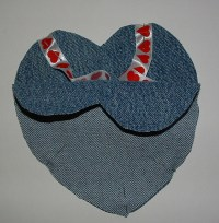 Recycled Denim Baby Bibs | My Recycled Bags.com