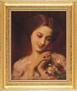 young woman with rose