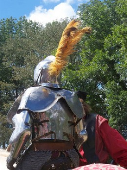 Renaissance helmet and plume