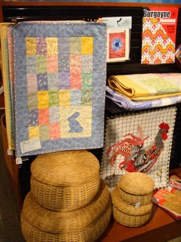 homespun crafts and fabric goods