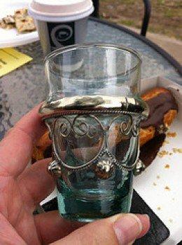 Antique, pretty, tea glass