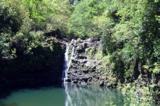 Hana Road Waterfall