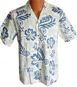 Hawaiian print shirts look great while shopping, dining, or on the beach. They are breezy and look good in a wide variety of venues.
