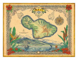 Map of the Island available at AllPosters