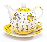 Porcelain Whimsical Flower Teapot for One Adorable Gift
