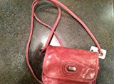 Fossil Pink Leather Turn Lock Crossover Purse Handbag