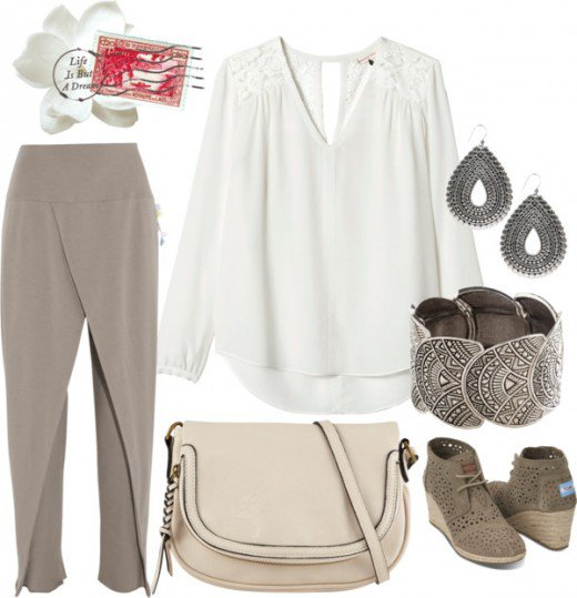"""""""Comfy Tribal"""" Daytime Look, featuring a silver bracelet bangle."""