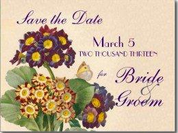 Primrose botanical save the date