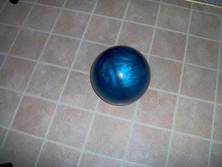 repurposed blue bowling ball