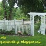 Garden Arbor made from doors and crib parts