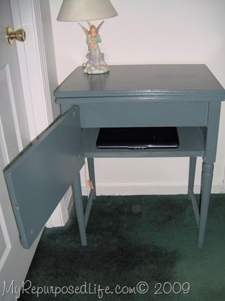 Vintage Sewing Cabinet Now A Cute Side Table My