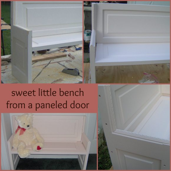 a paneled door makes a great doll bench