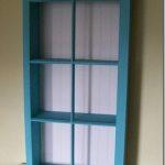 Turquoise Window Cabinet/Shelf