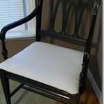 drop cloth upholstery chair