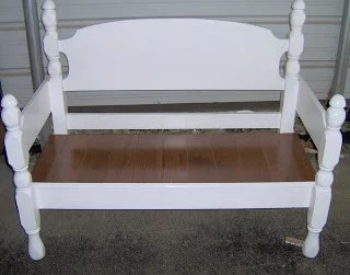 how to make an easy four poster headboard bench