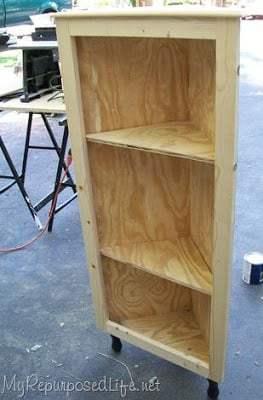 how to make a corner cupboard