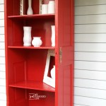 Repurposed Door Bookshelf Tutorial