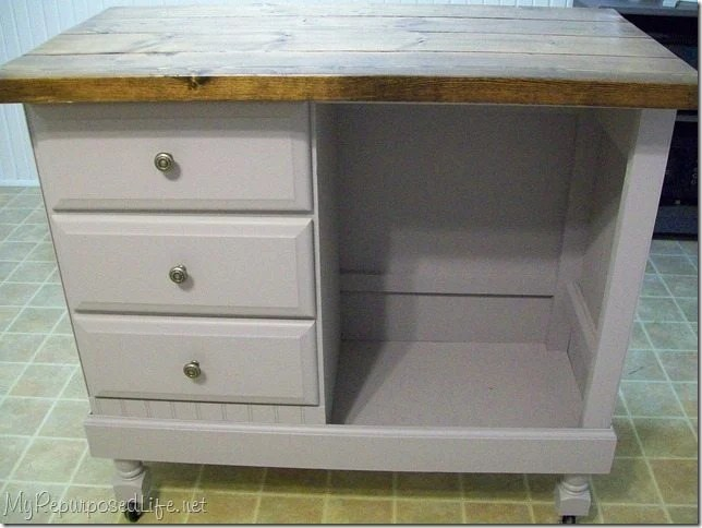 Repurposed Antique Dresser As A Kitchen Island With A: My Repurposed Life® Rescue