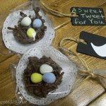 Chocolate Bird Nests (bird themed bridal shower)