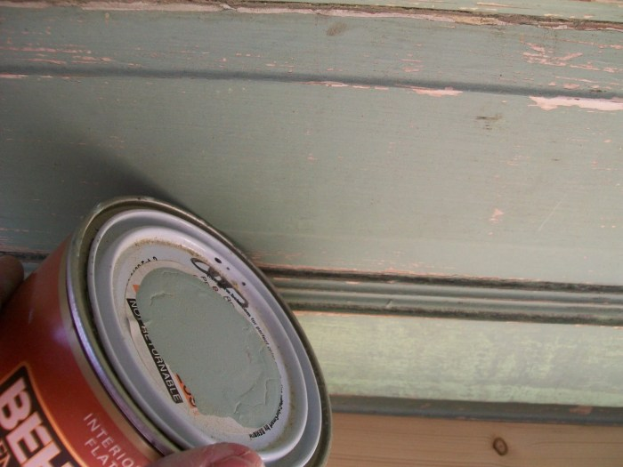 mint green paint matches original vintage door paint job