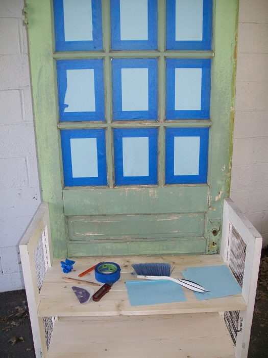 tape up windows before painting with paint sprayer