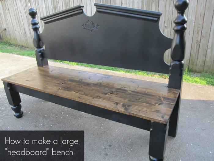 how to make a large headboard bench without arms