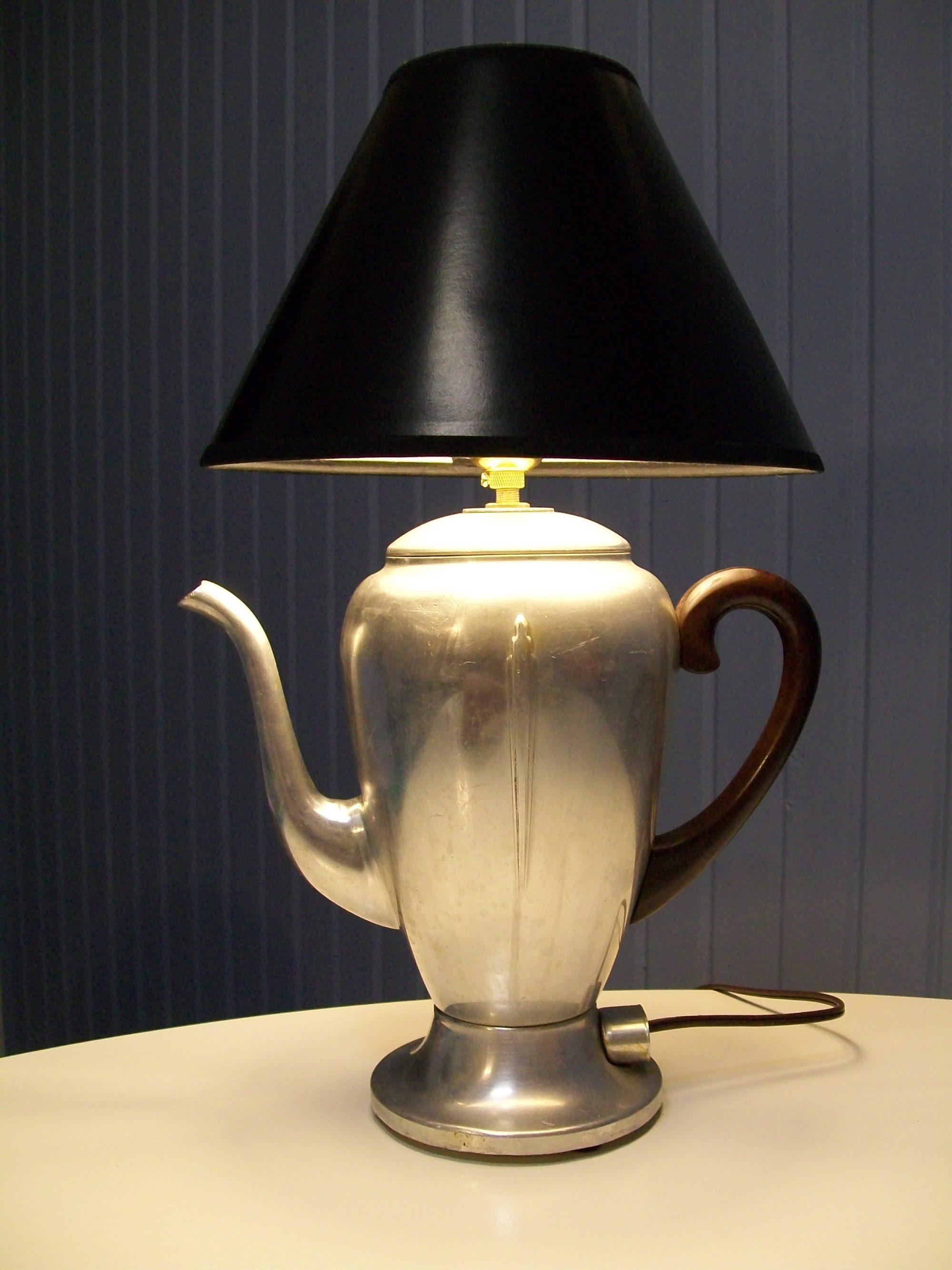 Repurposed Vintage Coffee Pot Lamp My Repurposed Life