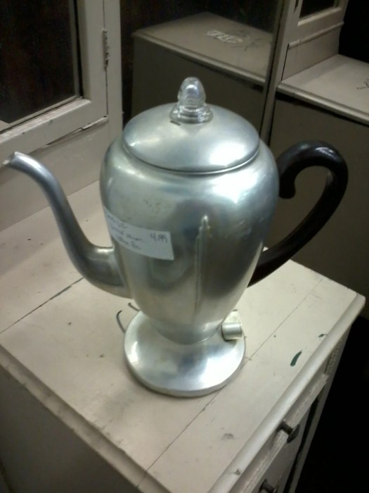 vintage coffee pot repurposed lamp