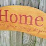 """Another Repurposed Headboard Sign """"Home"""""""